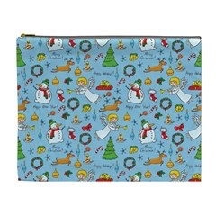 Christmas Pattern Cosmetic Bag (xl) by Valentinaart