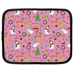 Christmas Pattern Netbook Case (xxl)  by Valentinaart