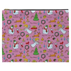 Christmas Pattern Cosmetic Bag (xxxl)  by Valentinaart