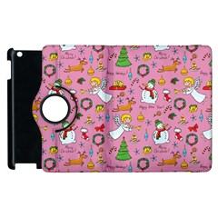 Christmas Pattern Apple Ipad 3/4 Flip 360 Case by Valentinaart