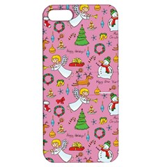 Christmas Pattern Apple Iphone 5 Hardshell Case With Stand by Valentinaart