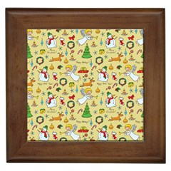Christmas Pattern Framed Tiles by Valentinaart