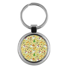 Christmas Pattern Key Chains (round)  by Valentinaart