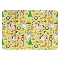 Christmas Pattern Samsung Galaxy Tab 10 1  P7500 Flip Case by Valentinaart