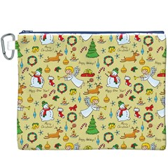 Christmas Pattern Canvas Cosmetic Bag (xxxl) by Valentinaart