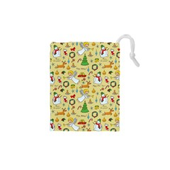 Christmas Pattern Drawstring Pouches (xs)  by Valentinaart