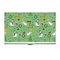 Christmas Pattern Business Card Holders by Valentinaart