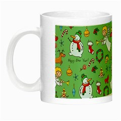 Christmas Pattern Night Luminous Mugs by Valentinaart