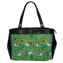 Christmas Pattern Office Handbags by Valentinaart