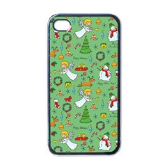 Christmas Pattern Apple Iphone 4 Case (black) by Valentinaart