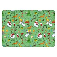 Christmas Pattern Samsung Galaxy Tab 8 9  P7300 Flip Case by Valentinaart