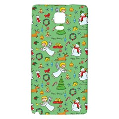 Christmas Pattern Galaxy Note 4 Back Case by Valentinaart