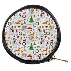 Christmas Pattern Mini Makeup Bags by Valentinaart