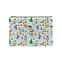 Christmas Pattern Cosmetic Bag (medium)  by Valentinaart