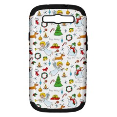 Christmas Pattern Samsung Galaxy S Iii Hardshell Case (pc+silicone) by Valentinaart