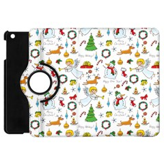 Christmas Pattern Apple Ipad Mini Flip 360 Case by Valentinaart