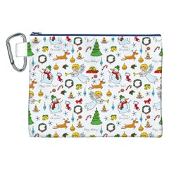 Christmas Pattern Canvas Cosmetic Bag (xxl) by Valentinaart