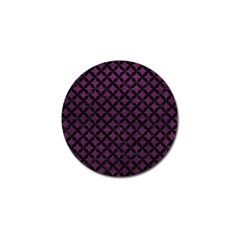 Circles3 Black Marble & Purple Leather Golf Ball Marker (10 Pack) by trendistuff
