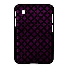 Circles3 Black Marble & Purple Leather Samsung Galaxy Tab 2 (7 ) P3100 Hardshell Case  by trendistuff