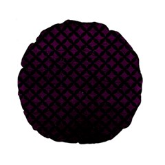 Circles3 Black Marble & Purple Leather Standard 15  Premium Flano Round Cushions by trendistuff