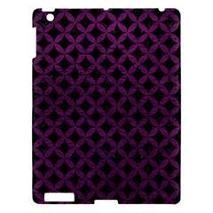 Circles3 Black Marble & Purple Leather (r) Apple Ipad 3/4 Hardshell Case by trendistuff