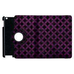 Circles3 Black Marble & Purple Leather (r) Apple Ipad 2 Flip 360 Case by trendistuff