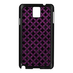 Circles3 Black Marble & Purple Leather (r) Samsung Galaxy Note 3 N9005 Case (black) by trendistuff