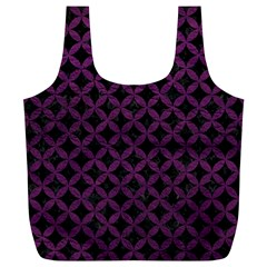 Circles3 Black Marble & Purple Leather (r) Full Print Recycle Bags (l)  by trendistuff