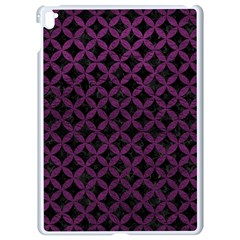 Circles3 Black Marble & Purple Leather (r) Apple Ipad Pro 9 7   White Seamless Case by trendistuff