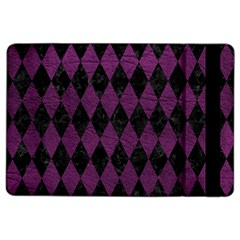 Diamond1 Black Marble & Purple Leather Ipad Air 2 Flip by trendistuff