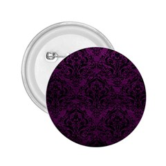 Damask1 Black Marble & Purple Leather 2 25  Buttons by trendistuff