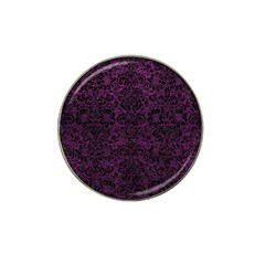 Damask2 Black Marble & Purple Leather Hat Clip Ball Marker (10 Pack) by trendistuff