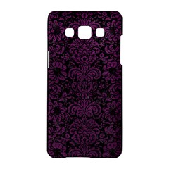 Damask2 Black Marble & Purple Leather (r) Samsung Galaxy A5 Hardshell Case  by trendistuff