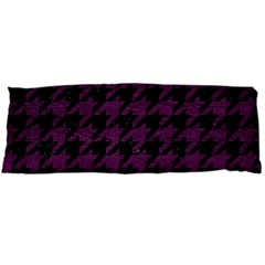 Houndstooth1 Black Marble & Purple Leather Body Pillow Case Dakimakura (two Sides) by trendistuff