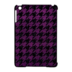 Houndstooth1 Black Marble & Purple Leather Apple Ipad Mini Hardshell Case (compatible With Smart Cover) by trendistuff