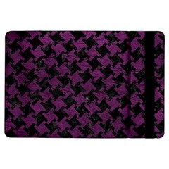 Houndstooth2 Black Marble & Purple Leather Ipad Air Flip by trendistuff