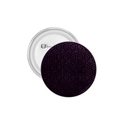 Hexagon1 Black Marble & Purple Leather (r) 1 75  Buttons by trendistuff