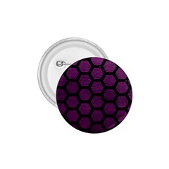 Hexagon2 Black Marble & Purple Leather 1 75  Buttons by trendistuff