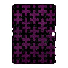 Puzzle1 Black Marble & Purple Leather Samsung Galaxy Tab 4 (10 1 ) Hardshell Case  by trendistuff