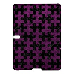 Puzzle1 Black Marble & Purple Leather Samsung Galaxy Tab S (10 5 ) Hardshell Case  by trendistuff