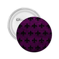 Royal1 Black Marble & Purple Leather (r) 2 25  Buttons by trendistuff