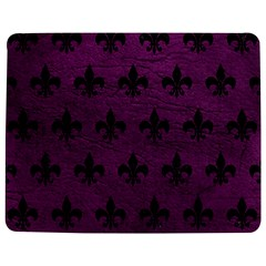 Royal1 Black Marble & Purple Leather (r) Jigsaw Puzzle Photo Stand (rectangular) by trendistuff