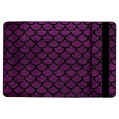 Scales1 Black Marble & Purple Leather Ipad Air 2 Flip by trendistuff