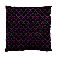 Scales1 Black Marble & Purple Leather (r) Standard Cushion Case (two Sides) by trendistuff