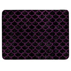 Scales1 Black Marble & Purple Leather (r) Samsung Galaxy Tab 7  P1000 Flip Case by trendistuff