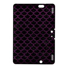 Scales1 Black Marble & Purple Leather (r) Kindle Fire Hdx 8 9  Hardshell Case by trendistuff