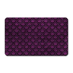 Scales2 Black Marble & Purple Leather Magnet (rectangular) by trendistuff
