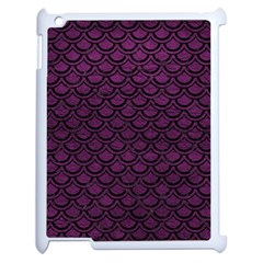 Scales2 Black Marble & Purple Leather Apple Ipad 2 Case (white) by trendistuff