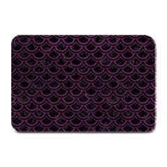 Scales2 Black Marble & Purple Leather (r) Plate Mats by trendistuff