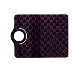 Scales2 Black Marble & Purple Leather (r) Kindle Fire Hd (2013) Flip 360 Case by trendistuff